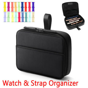 Portable Watchband Strap Organizer Bag For Apple Watch Band Travel Storage Box