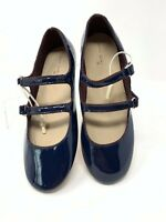 Zara Girls Kids Ballet Flats Mary Jane Shoes Navy Blue Patent School 3506/303