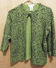 White Stag Ladies Stretch Olive Green Spotted Top Size S (4-6) 3/4 Sleeves EUC