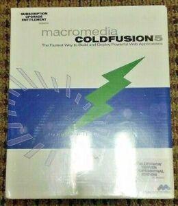 macromedia coldfusion 5 Subscription Upgrade Entitlement  - New