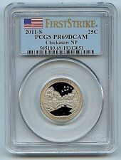 2011S Chickasaw ATB NPQuarter PR69 DCAM First Strike PCGS 25c Certified Coin C8