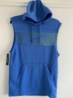 Nike mens blue sleeveless hooded zip top coat hoodie size L RRP £47.95