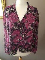 Roman Originals size 22 Button Down Floral Feminine Blouse