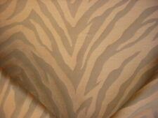 20Y Kravet Solange Pecan Brown Silk Zebra Stripe Drapery Upholstery Fabric