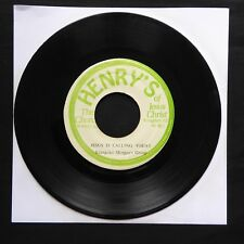 "Evangelist Morgan's Group Jésus appelle aujourd'hui Henry's Jamaica 7"" 45 vinyle"