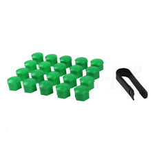 20x17 Green Wheel Lug Nut Bolt Cover Cap For VW Golf MK4 Audi Skoda Passat Seat