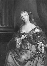 PRETTY YOUNG RICH GIRL WOMAN NOBLE LADY HAMILTON ~ Old 1865 Art Print Engraving