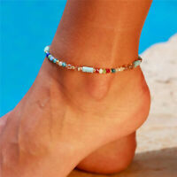 Bohemia Crystal String Beads Chain Anklet Bracelet Women Foot Beach Jewelry Gift