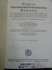 Hagers Pharmazeutisch-technisches Manuale, Pharmazie, Medizin, Drogerie,