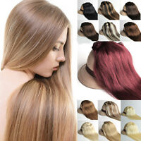 """15"""" 18"""" Clip In Full Head Set 100% Real Remy Human Hair Extensions 9 colors 70g"""
