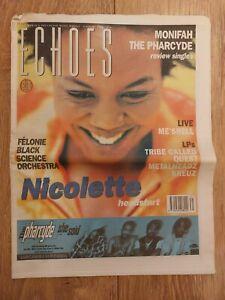 ECHOES MAGAZINE 3 AUGUST 1996 NICOLETTE MONIFAH BLACK SCIENCE ORCHESTRA
