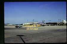 American Airlines Boeing 727 Aircraft at Chicago in 1973, Original Slide e16b