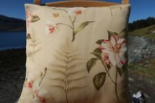 BARGAIN - Sanderson Linen Cushion Cover. Beautiful Quality Warm Colour Palette