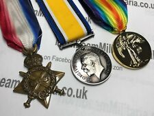 Ww1 Medals Trio 1914 - 15 Star British War and Victory Medal British Repro