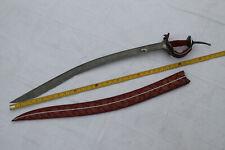 Mughal persian maratha silver inlaid pattern blade khanda yatagan style blade