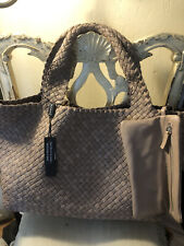 FALOR  Woven Leather Tote Taupe  NW
