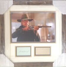 CLINT EASTWOOD AUTHENTIC SIGNED UNFORGIVEN PRESENTATION AFTAL#198