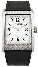 Firetrap FT2016B Silver Dial black PU Strap Analogue Display Men's Quartz Watch