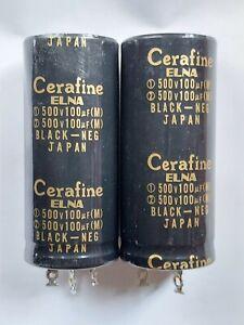pair elna cerafine capacitors 100uf + 100uf  500vdc