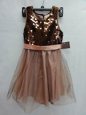 Dorissa Big Girl's Sequin Dress, Brown Multi, 10