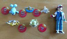 "Lot of 6 GEN 1 Pokemon 2"" Figures 1998 Authentic Nintendo Tomy Seel Togepi Ash"