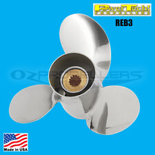 10.25 X 14 Suzuki Propeller 20 25 30hp Power Tech Reb3 Stainless Steel Prop