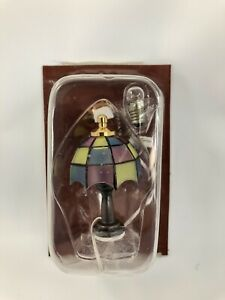 Dollhouse Miniature 1:12th Scale Electric Old Fashioned Stained Glass Lamp