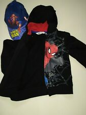 Spider Man felpa per da bambini bimbi 4/6 anni colore nero H&M  Marvel zip bimbo