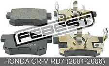 Pad Kit, Disc Brake, Rear For Honda Cr-V Rd7 (2001-2006)