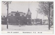 Rue St. Laurent BEAUHARNOIS Quebec Canada 1930-40 International Fine Art Co. 39