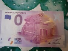 BILLET EURO SOUVENIR 2016-1 MÉMORIAL DE VERDUN