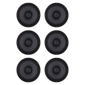 """Audiopipe APMB-8-B 8"""" 500 Watt Low/Mid Frequency Midbass Loudspeaker (6 Pack)"""