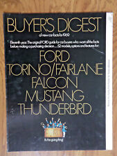 1969 Ford Torino Fairlane Falcon Mustng Thunderbird Buyer's Digest Booklet 16 Pg