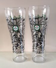 4 X New GROLSCH Collectors Pint Glasses Unconventional by Tradition Ltd Editon