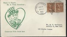 "WWII Patriotic Cover ""Have a Heart, be a True American"""