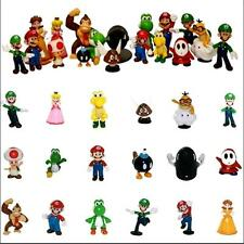 18pcs Super Mario Bros Action Figures Display Play Set Cake Topper Decor Kid Toy