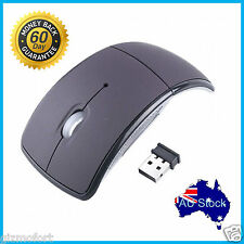 Foldable 2.4GHz Wireless Mouse USB Ergonomic Optical Cordless Mice for PC Laptop