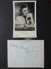 Maria Andergast & Franz Muxeneder, Doppelautogramm auf Zettel mit eine Bildk.