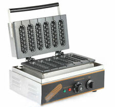 Commercial Nonstick Electric French Hot Dog on A Stick Waffle Maker Iron Machine