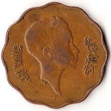 1943 Iraq 10 Fils Coin Faisal II KM#108