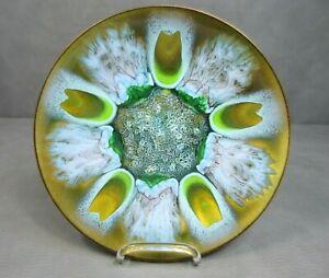 Vintage Edwards Star Original Enameled Copper Art Plate for Gumps San Francisco