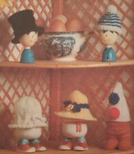 KNITTING PATTERN - 5 EGGHEADS EGG COSIES EASTER TO KNIT & CROCHET