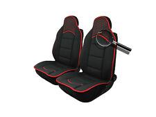 2x Sitzauflage Sitzkissen Sitzmatten Rückenkissen Kunstleder+Schwarz Stoff
