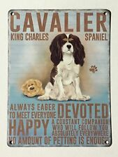 Cavalier King Charles Spaniel SML - Tin Metal Wall Sign
