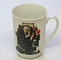 Vintage The Country Doctor Glass Coffee Mug 1929 Saturday Evening Post Rockwell
