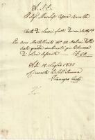 Antico Conto Manoscritto di Francesco Cecchi Scalpellino Lucchese 1835