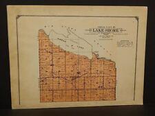 Minnesota Lac Qui Parle County Map Lake Shore Township  1913  W3#20