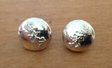 2 x Royal Electrical and Mechanical Engineers cap buttons - hard to find (12mm)