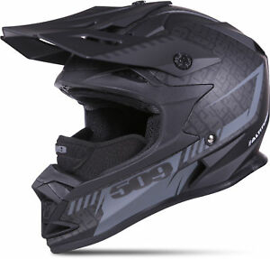 509 Adult Matte Black Altitude Black Ops Snowmobile Helmet Snocross