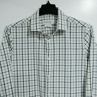 MIZZEN + MAIN Men's L Large Trim Fit Leeward Button Down Plaid Shirt